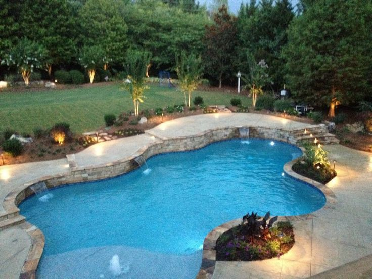 Pools sugar hill outdoors for Beautiful swimming pool pictures