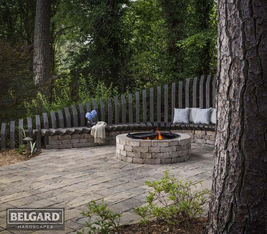 Residential hardscape projects in Georgia with product manufactured by GMS of Georgia.